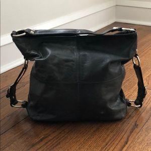 Tano Black Leather Hobo